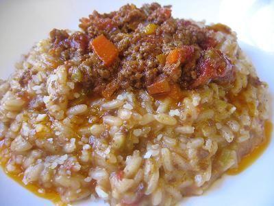arroz a la bolonesa