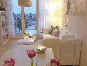 decoracion living blanco