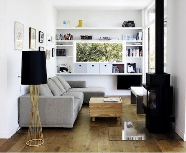 Living chico moderno casa web Ideas para decorar living departamento