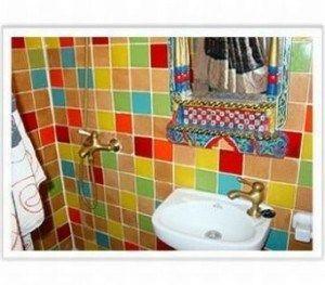 Mosaicos para baños multicolor