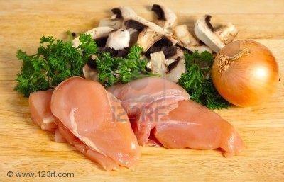 eceta pechuga de pollo champiñones