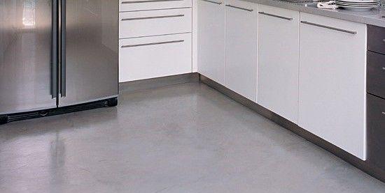 Cocinas cemento alisado blanca y gris