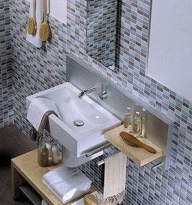 Mosaicos para baños Grises