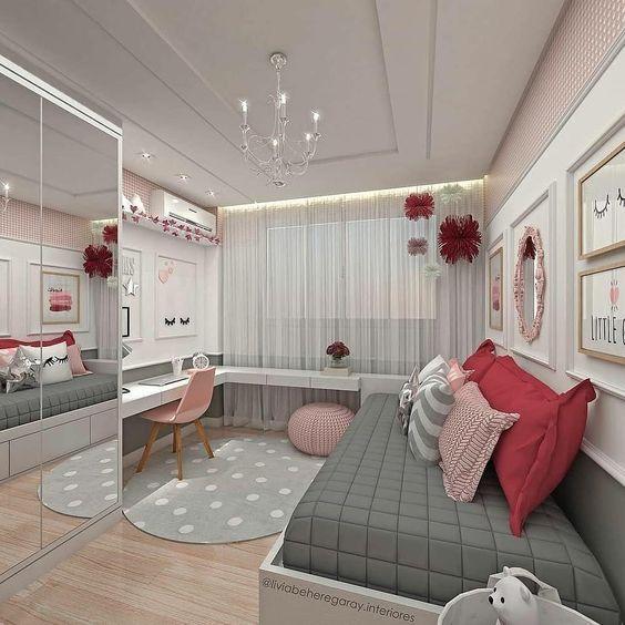 dormitorio juvenil moderno para mujer