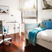 Dormitorio juvenil pequeño y moderno