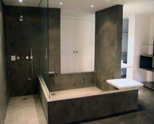 piso alisado en baños