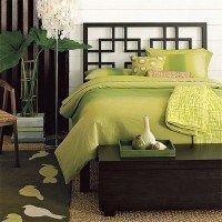 pie de cama baul mueble dormitorio verde