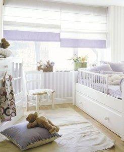 dormitorio bebe blanco y lavanda