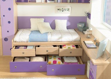 cama para nias con cajones