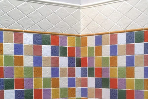 Azulejos para cuartos de ba o multicolor casa web - Diseno de azulejos para bano ...
