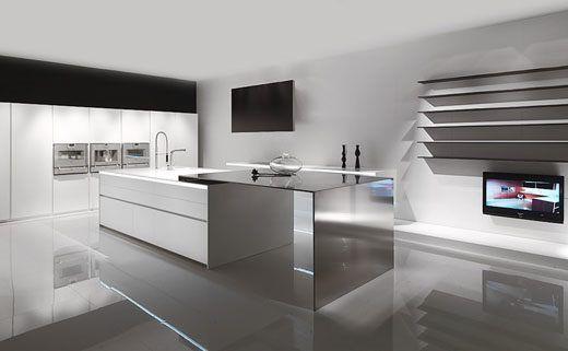 cocina de microcementos o cemento alisado