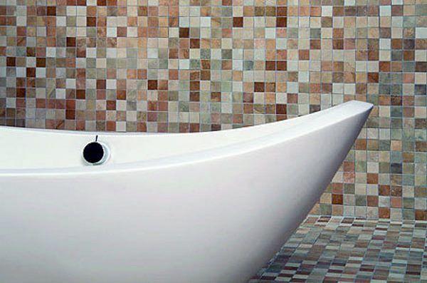 Azulejo multicolor tonos marrones casa web for Gresite piscina bricodepot