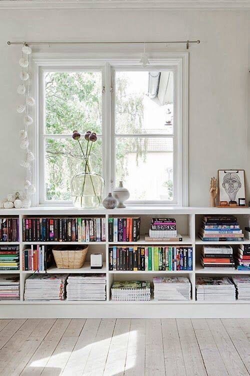 biblioteca baja para sala de estar