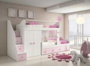 cama con cajones dormitorio infantil