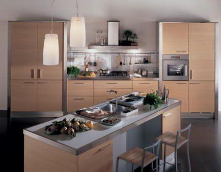 Cocina con cemento alisado o microcemento casa web for Muebles de cocina tipo isla