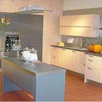 cemento alisado en la cocina