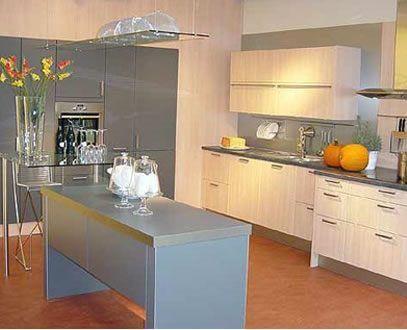 Cocina con cemento alisado o microcemento casa web - Cocinas de microcemento ...
