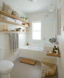 decoracion baño pequeño blanco