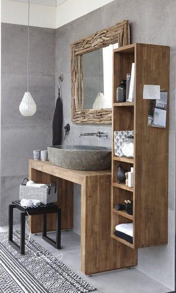 decoracion baño rustico moderno