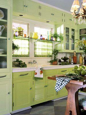 decoracion cocina verde vivilos4