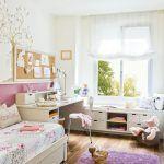 dormitorios infantiles con muebles blancos