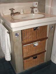 canasto de mimbre para baño