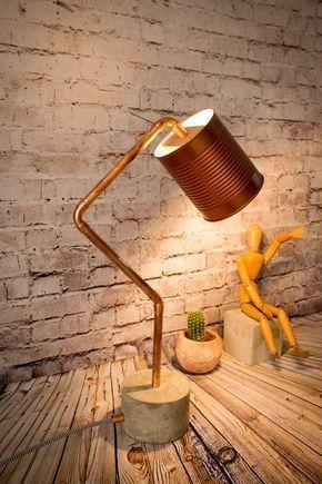 lampara estilo industrial para dormitorio