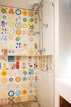 Azulejos con motivos flores multicolores casa web - Azulejos con flores ...