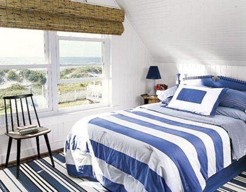 dormitorio matrimonial azul y blanco casa web. Black Bedroom Furniture Sets. Home Design Ideas