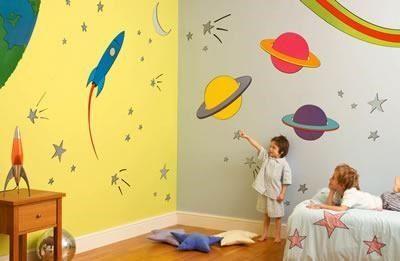 vinilo decorativo planetas infantil