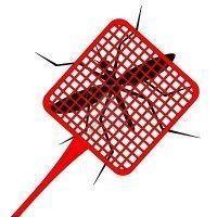 8819004 paleta de color rojo para matar mosquitos