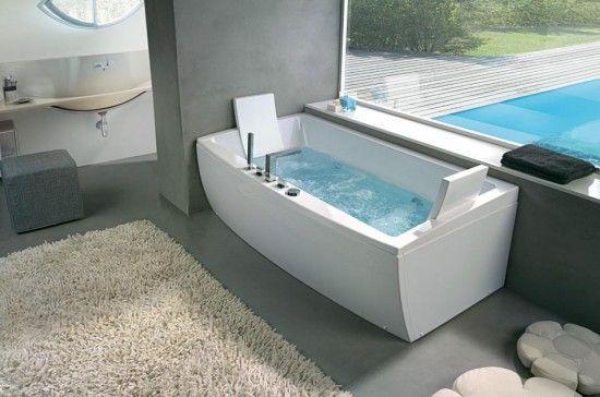 Bañera elegante moderna