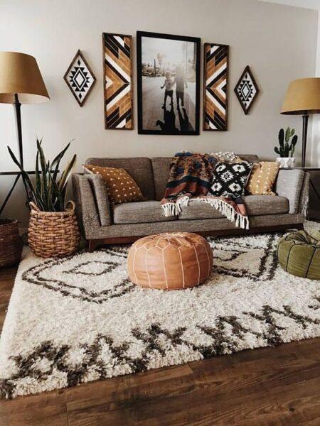 Living von decoracion etnica moderna
