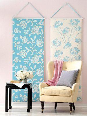 Paneles de tela para decorar sala de estar