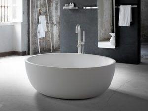 bañera blanca moderna redonda