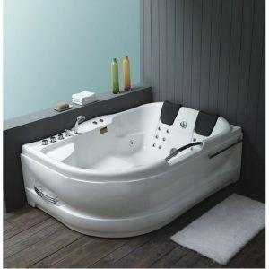 bañera blanca moerna con hidromasaje