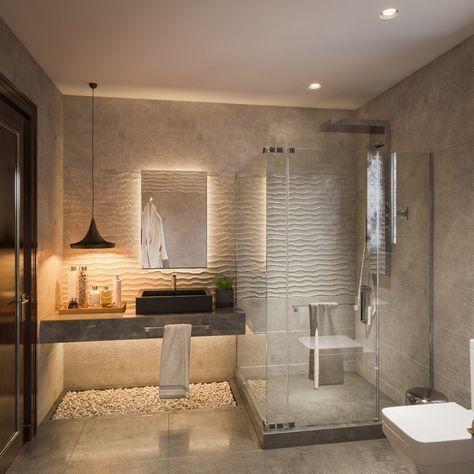 baños modernos lujosos grande