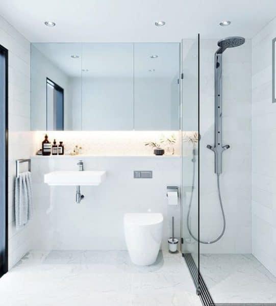 baños modernos minimalistas blancos
