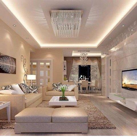 living elegante iluminado