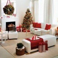living rojo y blanco