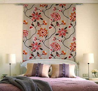 paneles de tela cabecera de cama