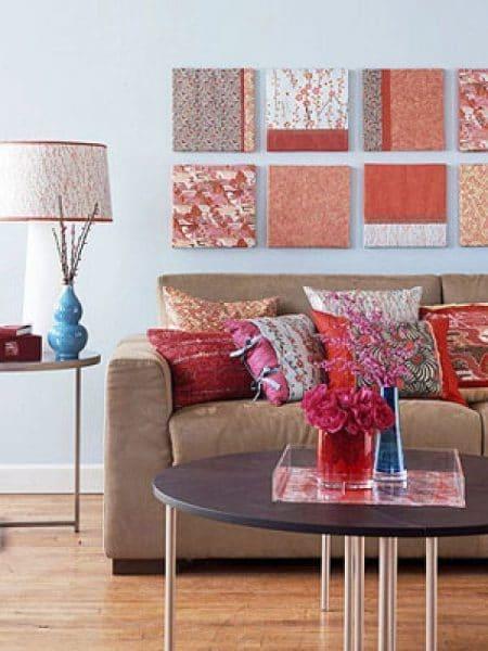 paneles de tela pequeños para decorar paredes