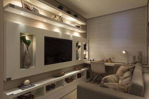sala de estar chica iluminada