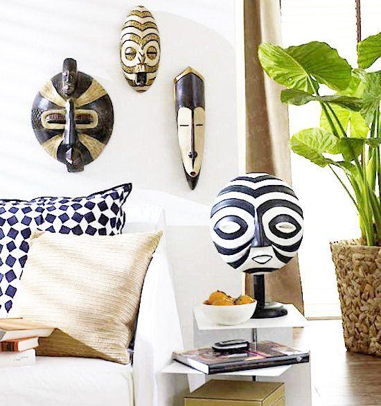 sala de estar con decoracion etnica