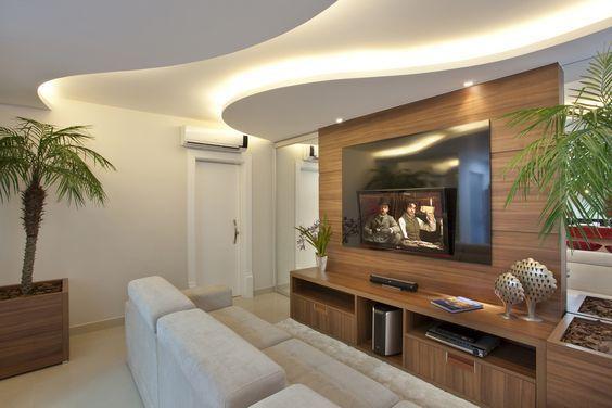 sala de estar pequeña iluminada