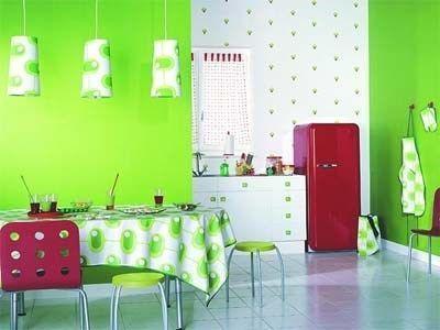 Cocina color verde manzana casa web - Colores para pintar una cocina comedor ...