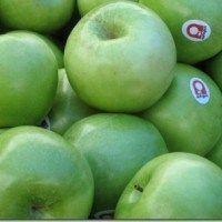 Manzanas verdes flameadas