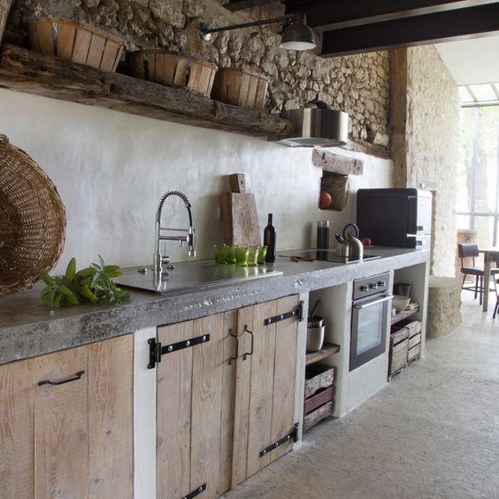 Cocina Rustica Con Cemento Alisado Casa Web
