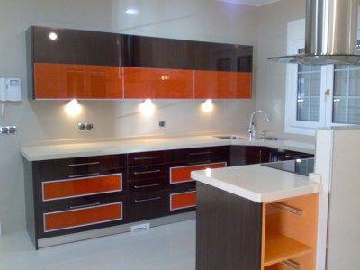 Cocinas moderna naranja negro y gris casa web - Decoracion cocinas modernas imagenes ...