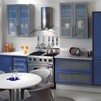 cocinas moderna azul blanca y gris